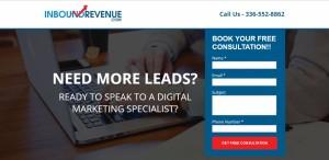 Inbound Revenue Landing Page