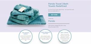 Pandatowel Landing Page