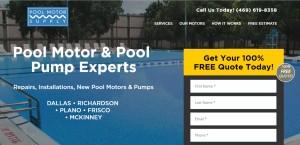 Pool Motor Supply Landing Page