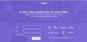 Radius Landing Page